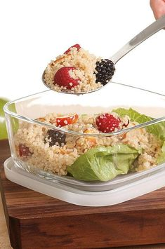 Try this fruit-and-nut-studded couscous salad alongside grilled salmon or chicken for supper or on its own for a fresh lunchbox treat. #salads #saladrecipes #healthysalads #saladideas #healthyrecipes