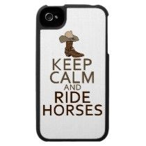 Keep Calm and Ride Horses Iphone 4 Covers