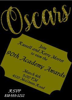 Golden Oscars Party Invitations