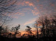 Sunrise that looks like the eye of God