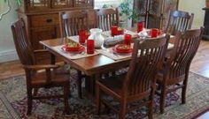 Mission Dining Set by Oakwood at Crowley Furniture in Kansas City
