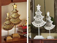 Mosaic Glass Holiday Christmas Trees-White $19.97