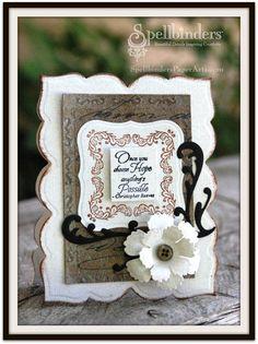 Hope Card - Scrapbook.com - Beautiful card. #scrapbooking #cardmaking #advantus #spellbinders #tatteredangels