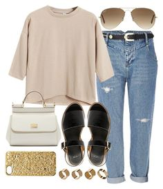 """""""Untitled #648"""" by arythebeeslayer on Polyvore featuring River Island, Chicnova Fashion, ASOS, Warehouse, Ray-Ban, Dolce&Gabbana and Marc by Marc Jacobs"""