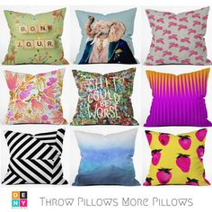 DENY Throw Pillows for Days