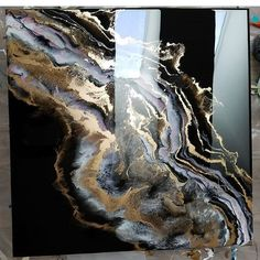 Shares her favorite odd tools to use while creating! Check it out😉 (link in the bio) lovely piece! Acrylic pour painting on canvas wall art fluid painting Art by irit No photo description available. Agate Rose Gold Glitter 1 wall mural from happywall Flow Painting, Pour Painting, Acrylic Pouring Art, Acrylic Art, Epoxy Resin Art, Resin Artwork, Modern Art, Abstract Art, Canvas Art