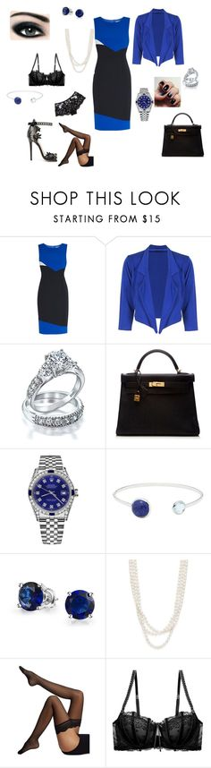 """""""Senza titolo #442"""" by lilly901 ❤ liked on Polyvore featuring Gina Bacconi, Marchesa, Bling Jewelry, Hermès, Rolex, Lazuli, Bloomingdale's, Wolford, Heidi Klum Intimates and I.D. SARRIERI"""