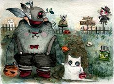 Treat or trick !Happy Halloween. https://www.facebook.com/yel.panda.J