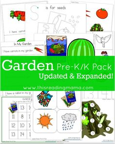 FREE Garden Pre-K/K Pack ~ contains an emergent reader with accompanying literacy and math activities | This Reading Mama