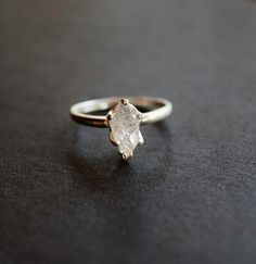 Unique Engagement Rings | POPSUGAR Fashion  ------Raw Diamond Ring ($108), raw and uncut diamond