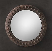 18th C. European Cog Wheel Mirror rh living or dining room