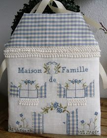 What a cool wedding gift this would be on a pillow! Silk Ribbon Embroidery, Embroidery Applique, Cross Stitch Embroidery, House Quilts, Fabric Houses, Fabric Crafts, Sewing Crafts, Sewing Projects, Felt House