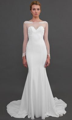 Verona Gown. Love the sleeves, but not a boat neck