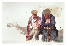 Beautiful watercolor painting by Eudes Correia #artpeople