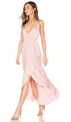 f0553923bc5c Tissue Satin Wrap Dress Pink Satin Dress