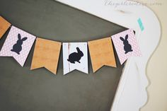 Free printable Bunny Banner for Easter. This is a cheap and super cute way to decorate your home for Easter. 3d Paper Crafts, Diy Crafts, Paper Crafting, Easter Decor, Decorating Your Home, Free Printables, Projects To Try, Bunny, Stationery