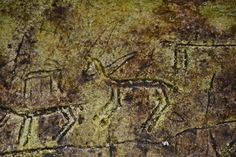 Cave drawings dating back to the early Stone Age including scenes of hunters chasing prey have been discovered by fishermen in Turkey after water from a dam was drained Paleolithic Era, Cave Drawings, Man On Horse, Archaeological Finds, Beneath The Surface, Stone Age, World Heritage Sites, Continents, Painted Rocks
