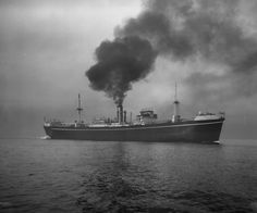 SS Suva built by Bartrams of Sunderland for W. R. Carpenter & Co. Ltd, Fiji & launched 28/09/38(shown here undergoing sea trials. Ran timber from British Colombia & West Coast America to Australia & then carried goods & supplies to the Pacific Islands on her return journey. On 26/03/43 arrived Western Australia with most of her crew suffering from small pox. 5 were to die at Woodman Point Quarantine Station.Requisitioned in 04/43 she carried military supplies to New Guinea. Survived WW II