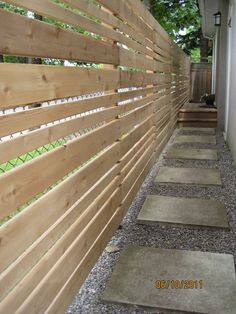 low maintenance privacy fence | use to cover up chain/link fence... Cedar fence...