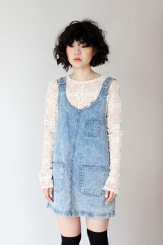 Pocket Denim Overall Dress  https://marketplace.asos.com/listing/dresses/pocket-denim-overall-dress/352891