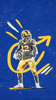 Check out all our Los Angeles Rams merchandise! Sports Graphic Design, Graphic Design Posters, Graphic Design Inspiration, Sport Design, Cover Design, Design Art, Sports Marketing, Sports Graphics, Football Art