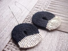 Image of Woven Rope Earring~Black&Gold
