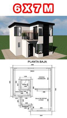 Minimal House Design, Modern Small House Design, Duplex House Design, House Front Design, Little House Plans, My House Plans, House Construction Plan, Modern Bungalow House, Model House Plan