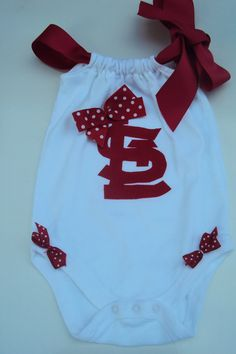 Baby Girl, Toddler Girl.St. Louis Cardinals Baseball Romper Onesies or Tee Shirt.  For Your Little STL Cardinals Fan.. $24.00, via Etsy.