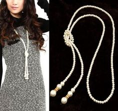 Long Pearl Jewelry Necklace