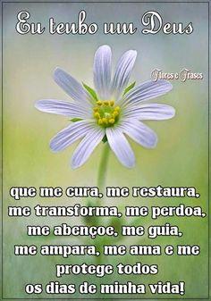 Flores e frases: EU TENHO UM DEUS...
