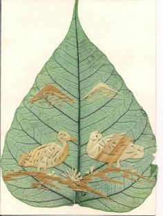 Birds Limited Edition Unique Leaf art Handcrafted by museumshop, $7.99  No two leaf or leaf art looks exactly alike!