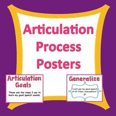 These posters will encourage your students to generalize their articulation sounds and will decorate your room in a functional way! Students LOVE moving their clothespins up the articulation ladder!