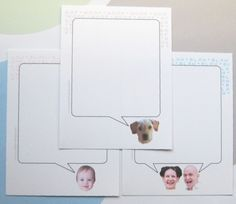 cards + envelopes and a notepad - stationery with custom photos