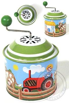 Cute tin musical toy- plays Old MacDonald had farm. Great goodie bag gift at a party (from Tin Toy Arcade)