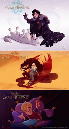 Disney Produced Game of Thrones by nandomendonssa.deviantart.com and facebook.com/mahanski.work