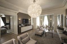 The Norwegian Prime Ministers Residence designed by Metropolis arkitektur & design. Prime Minister, Oversized Mirror, Chandelier, Ceiling Lights, Lighting, Furniture, Design, Home Decor, Candelabra