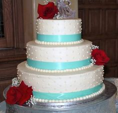 Tiffany Blue and Red roses....Pretty