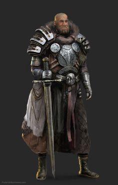 ArtStation - Heavy knight dude, Fryderyk Obuchowicz