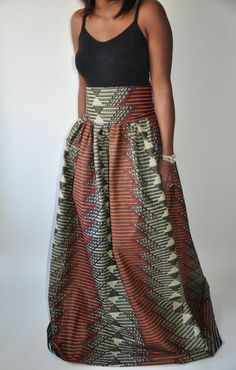NEW! The Madison Maxi -African Print 100% Holland Wax