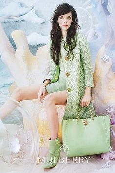 Mulberry's spring campaign is underwater #fashion