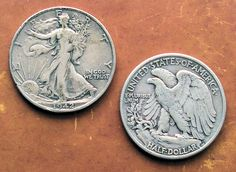 Two Walking Liberty half dollar coins. photo by Bob.Fornal on Flickr