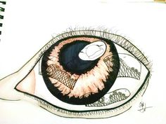 Second time drawing eye