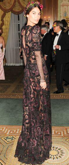 Lily Aldridge at the Save Venice gala.