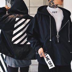 ; the stripes, called off-white    #fashion #streetstyle #streetwear