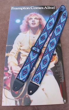 Guitar Strap Handwoven  by Annie MacHale in a 3-Color Pickup Pattern