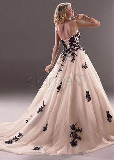 Tüll Prinzessin Lace Schnürrücken Herz-Ausschnitt bodenlanges aufgeblähtes Brautkleider