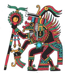 Xolotl - (God of the Evening Star - evil twin of Quetzalcoatl)