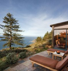 Post Ranch Inn Big Sur, California sky tree house home log cabin cottage Villa overlooking stone
