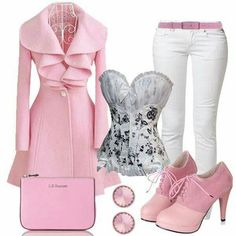 Love all of it except the pants, I would wear black or gray pants.