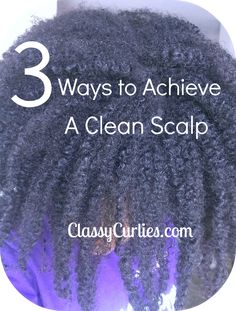 ClassyCurlies.com: Your source for natural hair and beauty care: Natural Hair: 3 Ways to Achieve a Clean Scalp